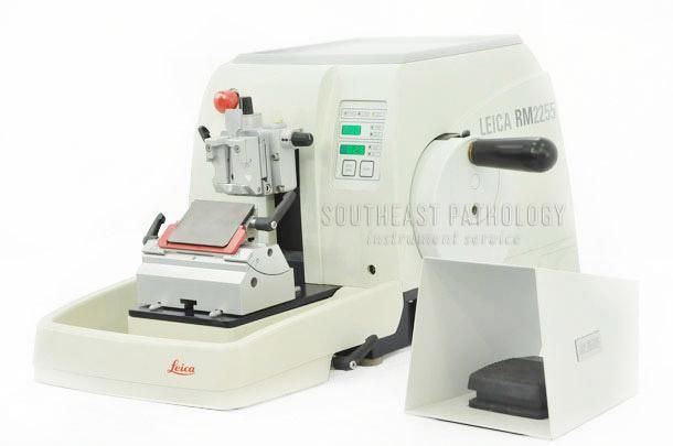 Leica RM2255 Automatic Microtome, refurbished, 1 year warranty- Southeast Pathology Instrument Service