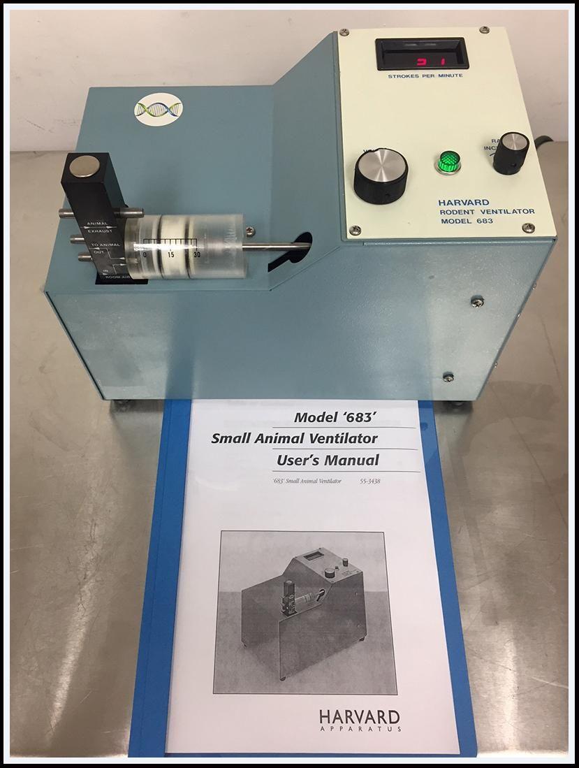 Harvard Apparatus 683 30cc Animal Ventilator w WARRANTY