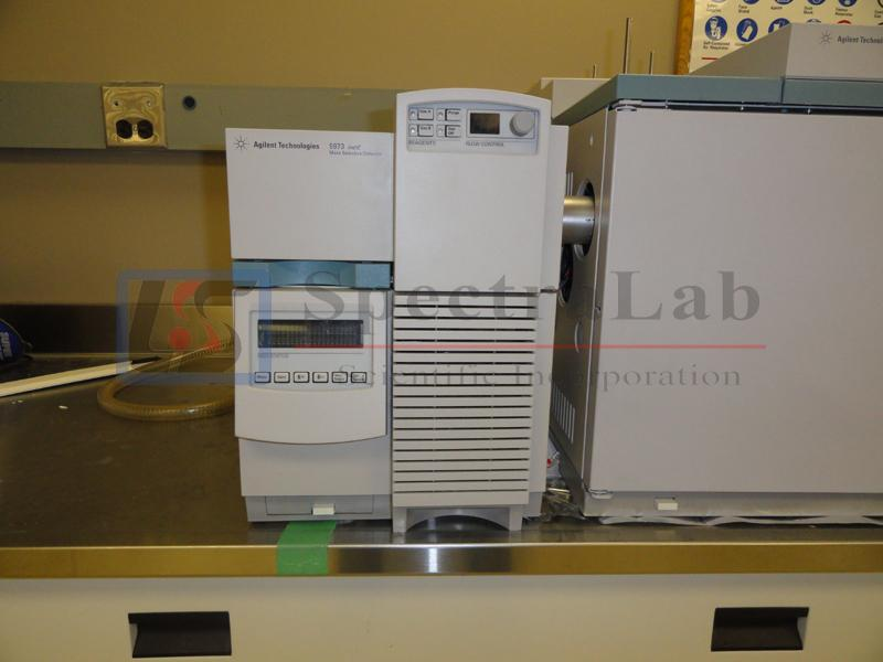 Agilent 5973 Network Mass Selective Detector G1088A (S/N US425906) and Agilent 6890N GC