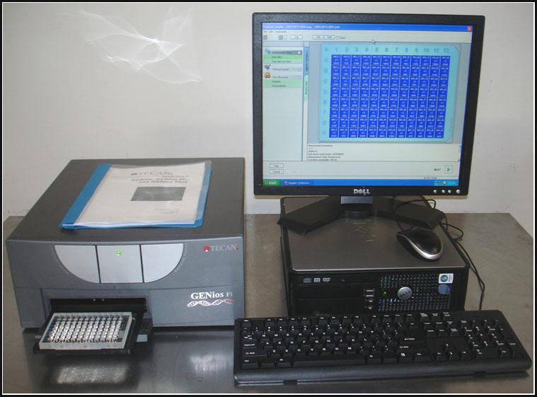 Tecan GENios FL Fluorescence Microplate Reader FI TRF w WARRANTY