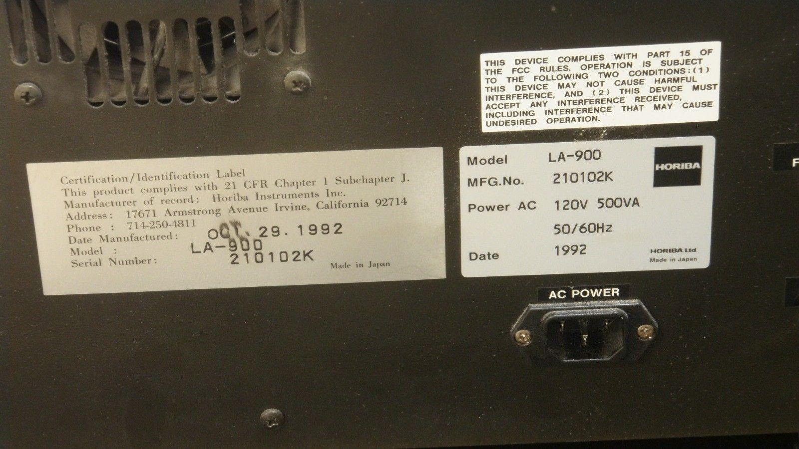 HORIBA LA-900 Laser Scattering Particle Size Distribution Analyzer