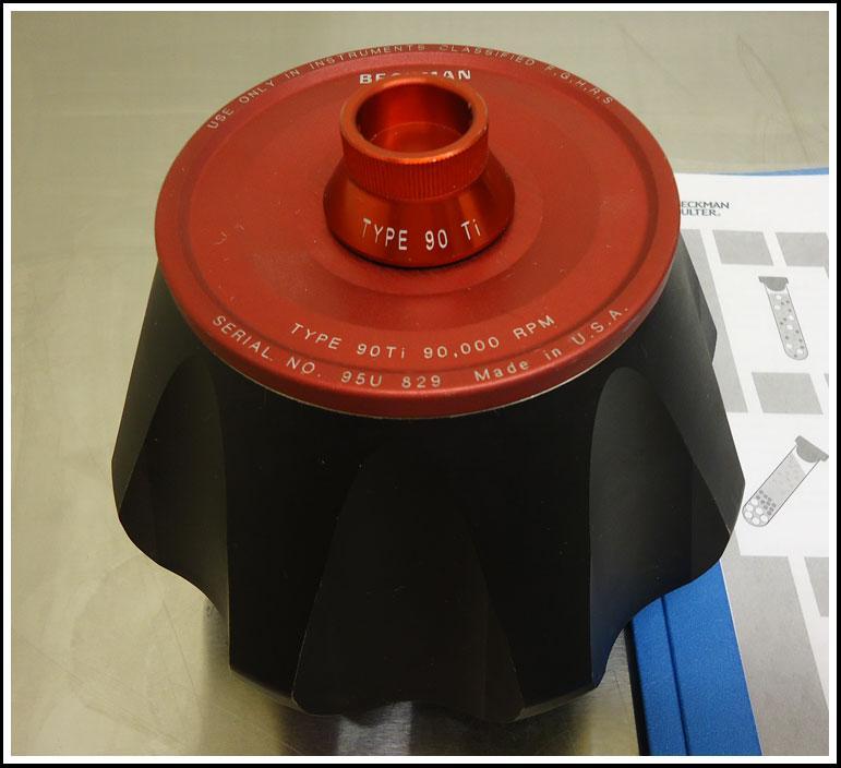 Beckman Ultracentrifuge Rotor 90 Ti w WARRANTY