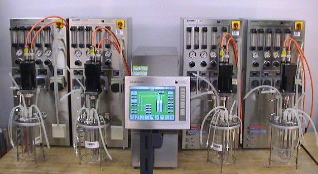 Sartorius B-DCU Fermentation System with Supply Towers