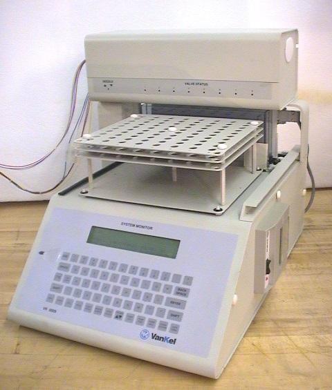 Vankel Varian VK 7000 8 stirrer Dissolution with VK750D Monitor, 17-2000 Peristaltic Pum and VK 8000