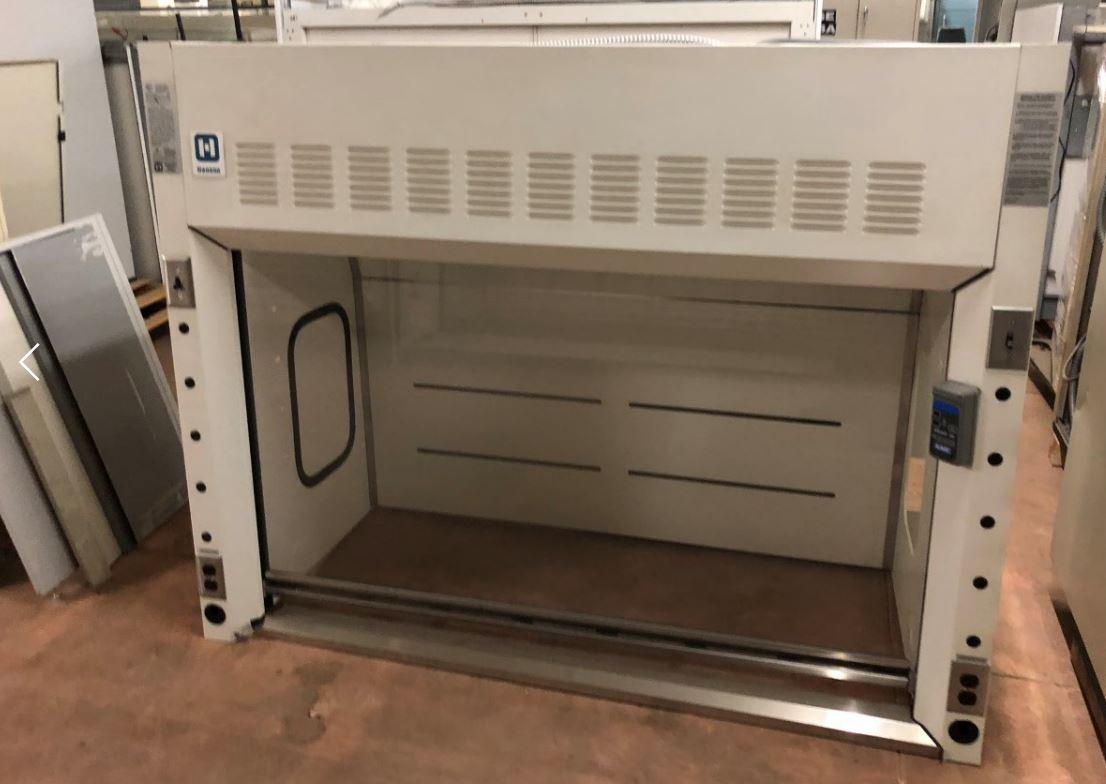 (REDUCED $2750) Hanson Lab Furniture 6ft FUME HOOD W/ MATCHING CABINETS - 2ea Acid Cabinets