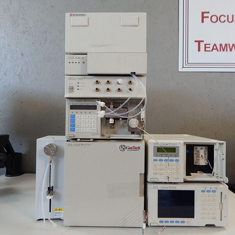 Shimadzu 10A HPLC System with UV-VIS Detector and 10A Autosampler