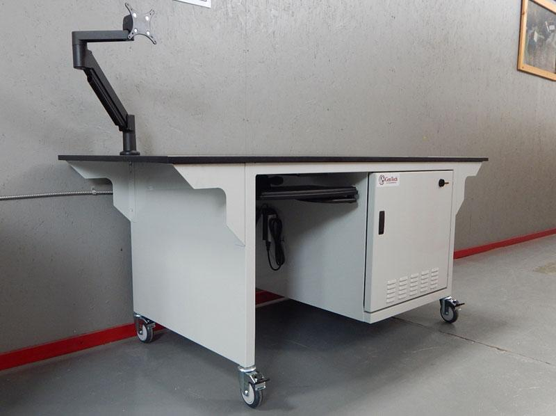 Quiet Extended Mass Spec Workbench with Noise Enclosure