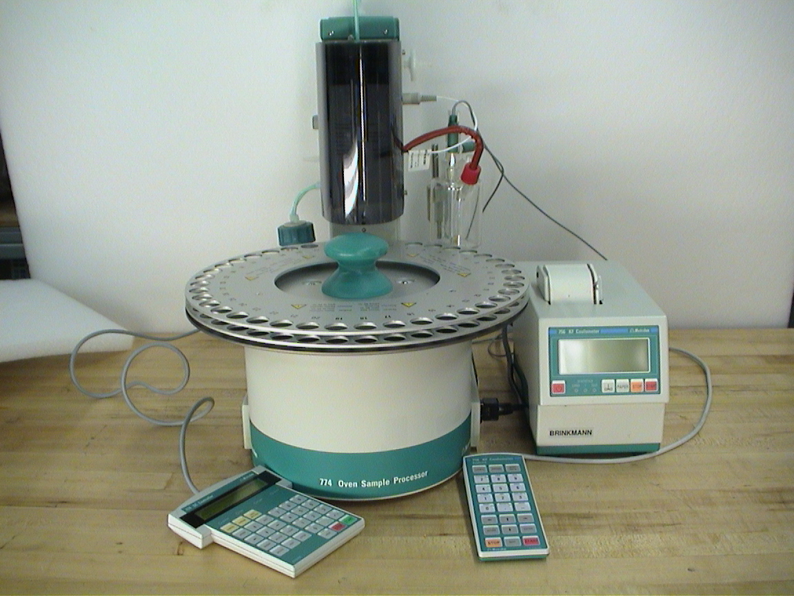 Metrohm 774 Oven Sample Processor 756 KF Coulometer for Automated Karl Fischer water determination