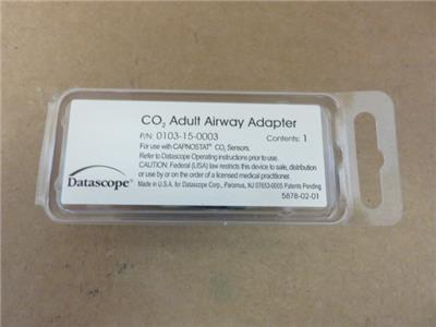 Datascope 0103-15-0003 CO2 Adult Airway Adapter for Capnostat *New*