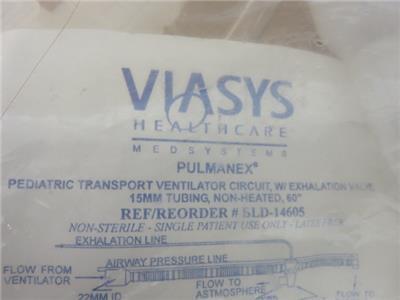 Viasys Pulmanex BLD-14605 Pediatric Transport Ventilator Circuit Lot of 10 - New