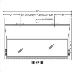 AMS EH-HP-96 8 foot Benchtop Eliminator HP Series