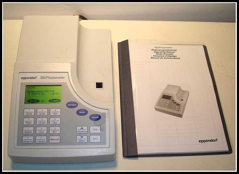 Eppendorf BioPhotometer Spectrophotometer UV/VIS w WARRANTY