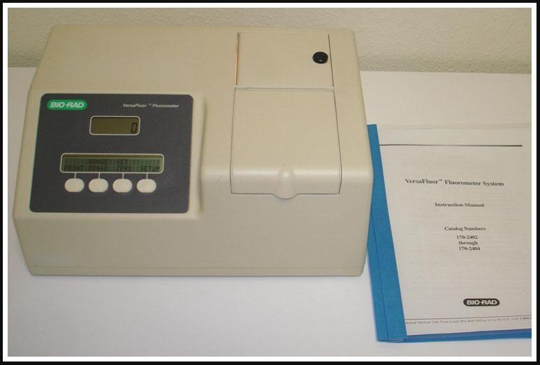 Bio-Rad VersaFluor Fluorometer EX360/EM460 w WARRANTY
