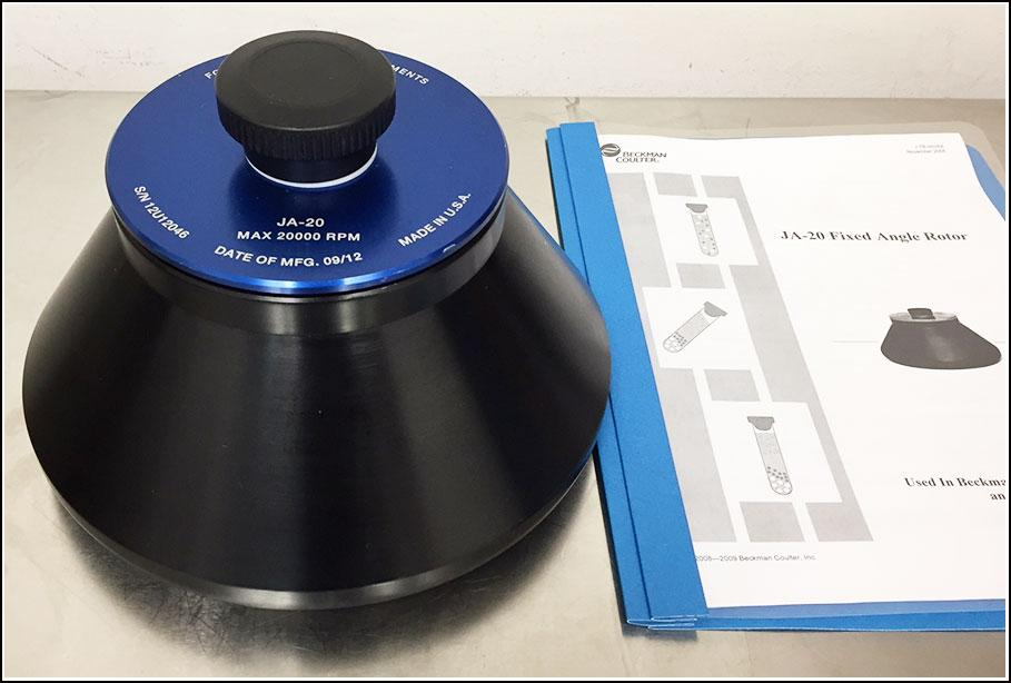 Beckman Coulter JA-20 Rotor w WARRANTY