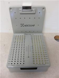 Aesculap MD435 Titanium Screw Tray Set- 107 Screws Total