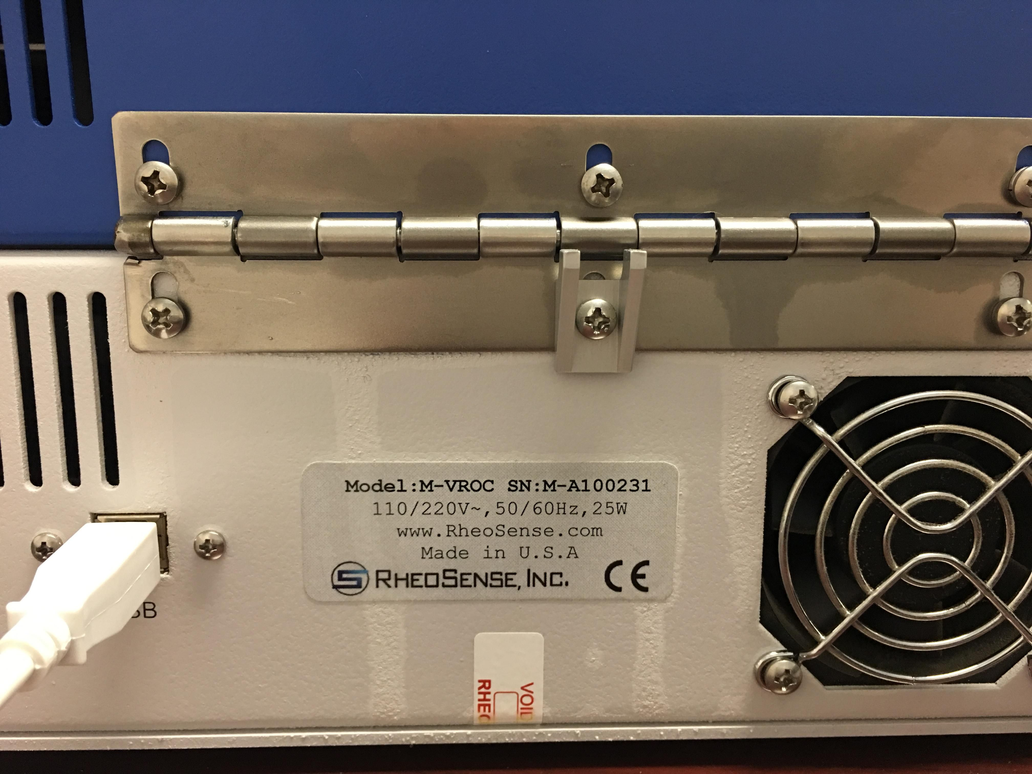 RheoSense m-VROC viscometer/rheometer on a chip plus solid state cooling systems