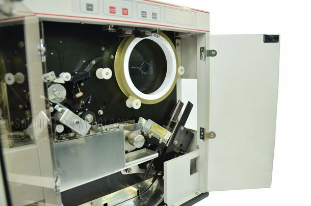 Sakura Tissue Tek SCA tape coverslipper (white model), refurbished with warranty- Southeast Pathology Instrument Service