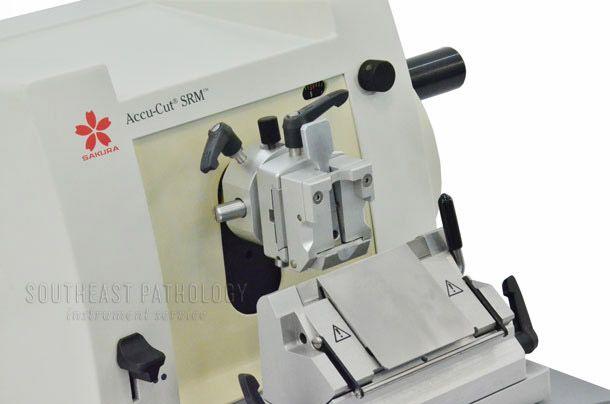 Sakura Accu-cut SRM200 Microtome, refurbished, 1 year warranty- Southeast Pathology Instrument Service