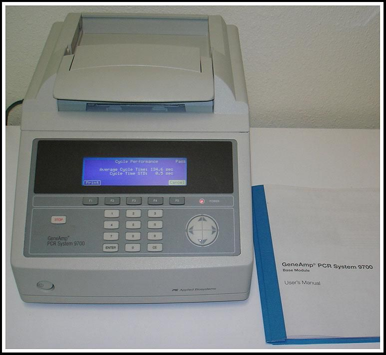 Perkin Elmer ABI GeneAmp 9700 Thermal Cycler w w 96x0.2ml Block