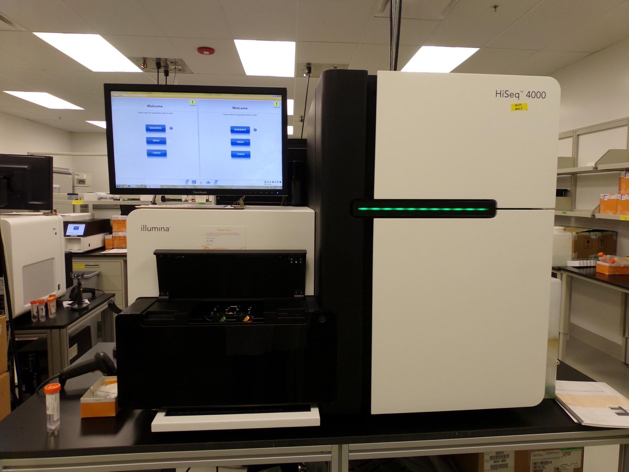 Illumina HiSeq 4000 Sequencing System Certified and Warranty