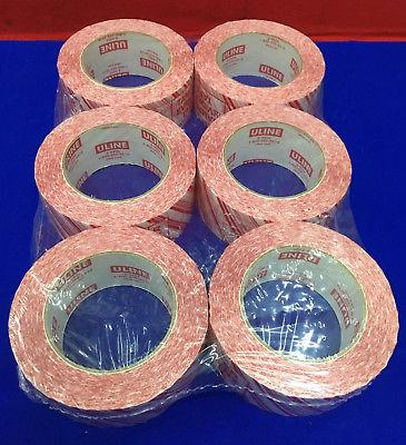 QTY 6 ROLLS - ULINE S-9926 'TAMPER EVIDENT' INDUSTRIAL SECURITY TAPE