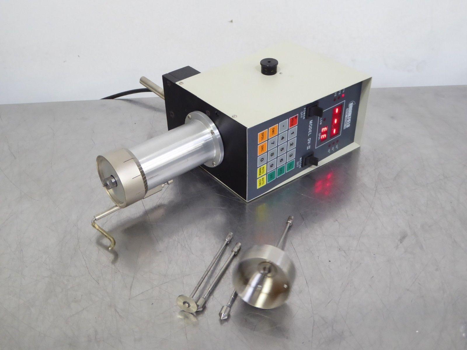 T155271 Brookfield DV-II HBTDV-II Digital Viscometer w/ (4) Spindles