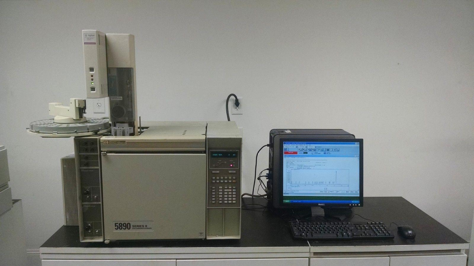 HP 5890 GC with FID, TCD, Autosampler, Computer/Software, Tested, Working