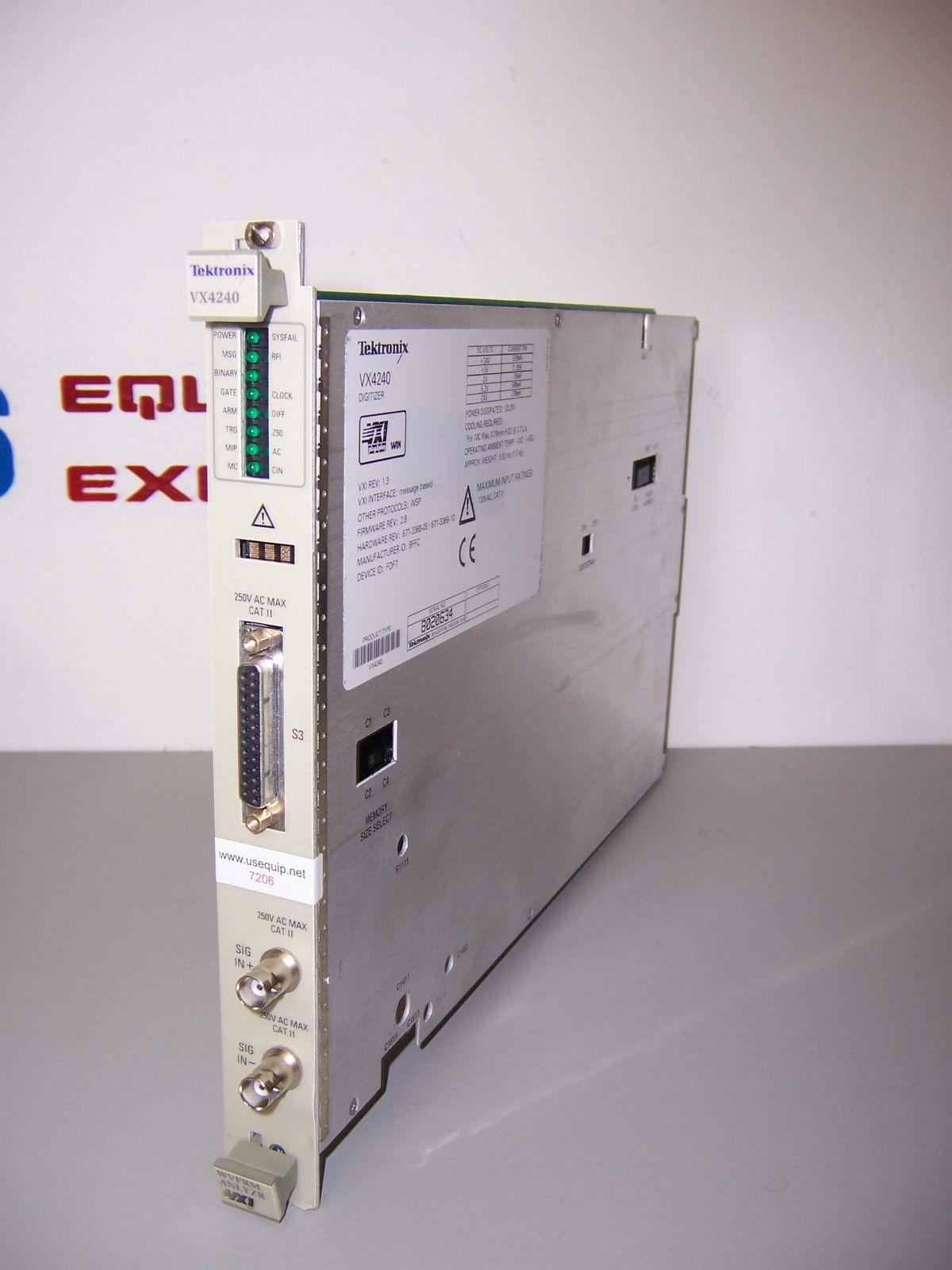 7206 TEKTRONIX VXI VX4240 CARD 16 CHANNEL 200 kHz VXI DIGITIZER MODULE