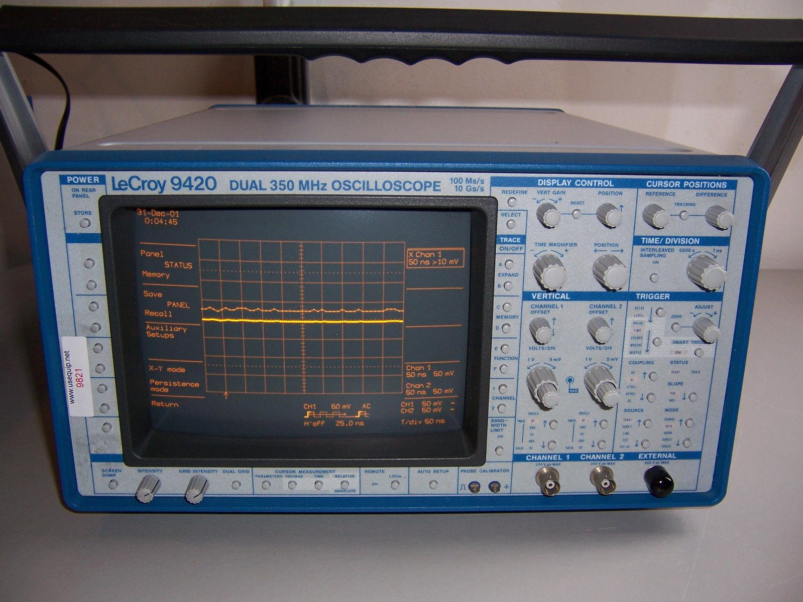 9821 LECROY 9420 DUAL 350MHZ OSCILLOSCOPE 100 MS/S - 10 GS/S 2 CHANNEL