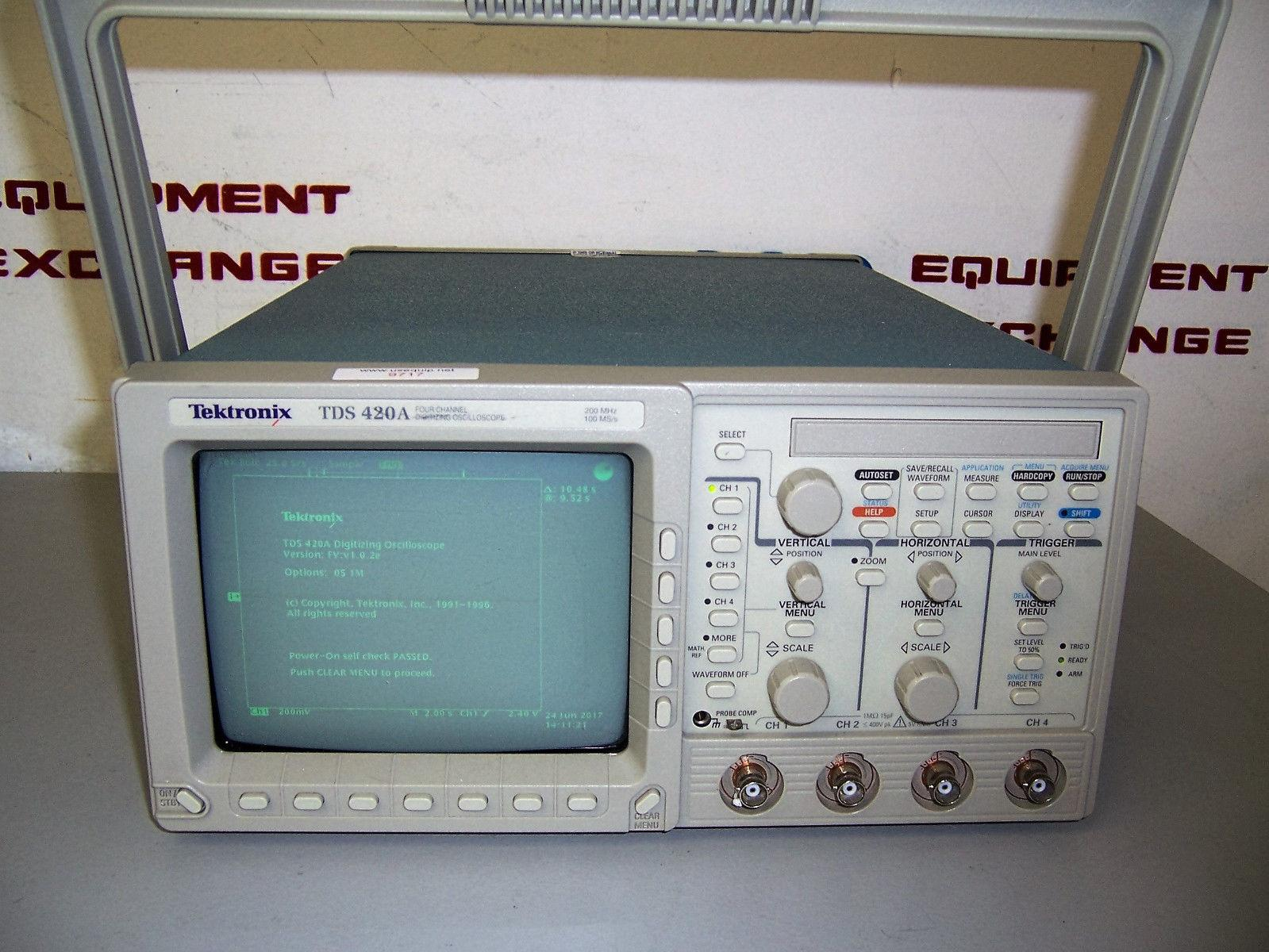 9717 TEKTRONIX TDS420A 4 CHANNEL DIGITIZING OSCILLOSCOPE