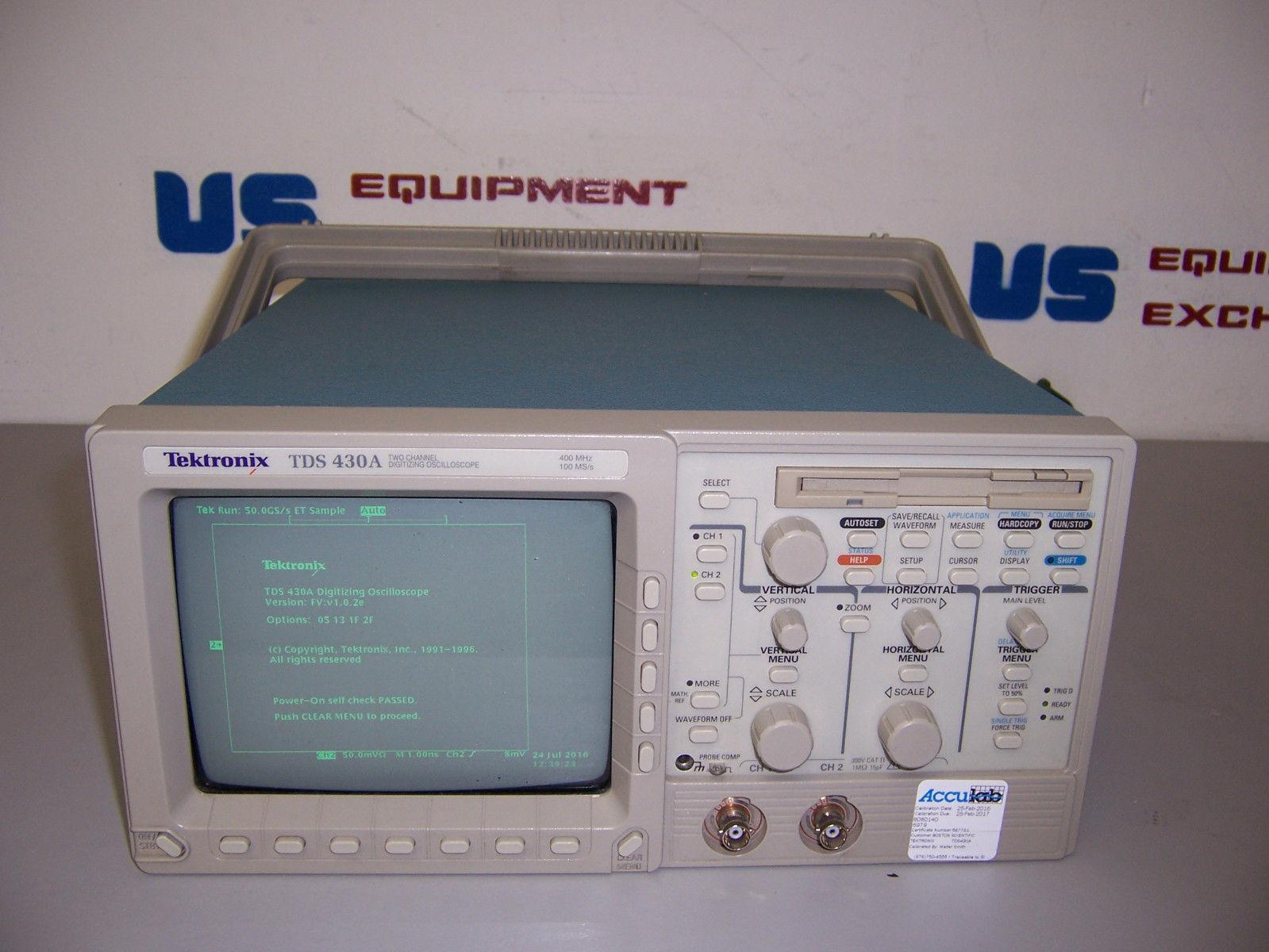 9263 TEKTRONIX TDS430A OSCILLOSCOPE 2 CHANNEL DIGITIZING 400 MHZ 100MS/S