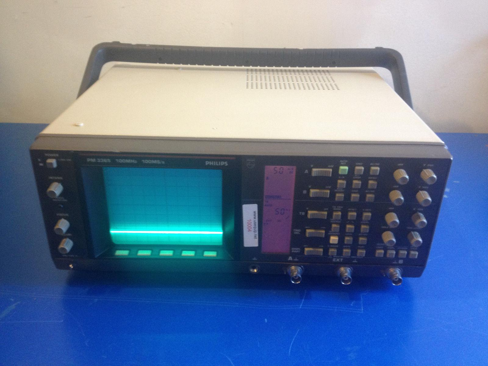 10004 PHILIPS PM3365 / 50 Digital Oscilloscope 100MHZ   100MS/S