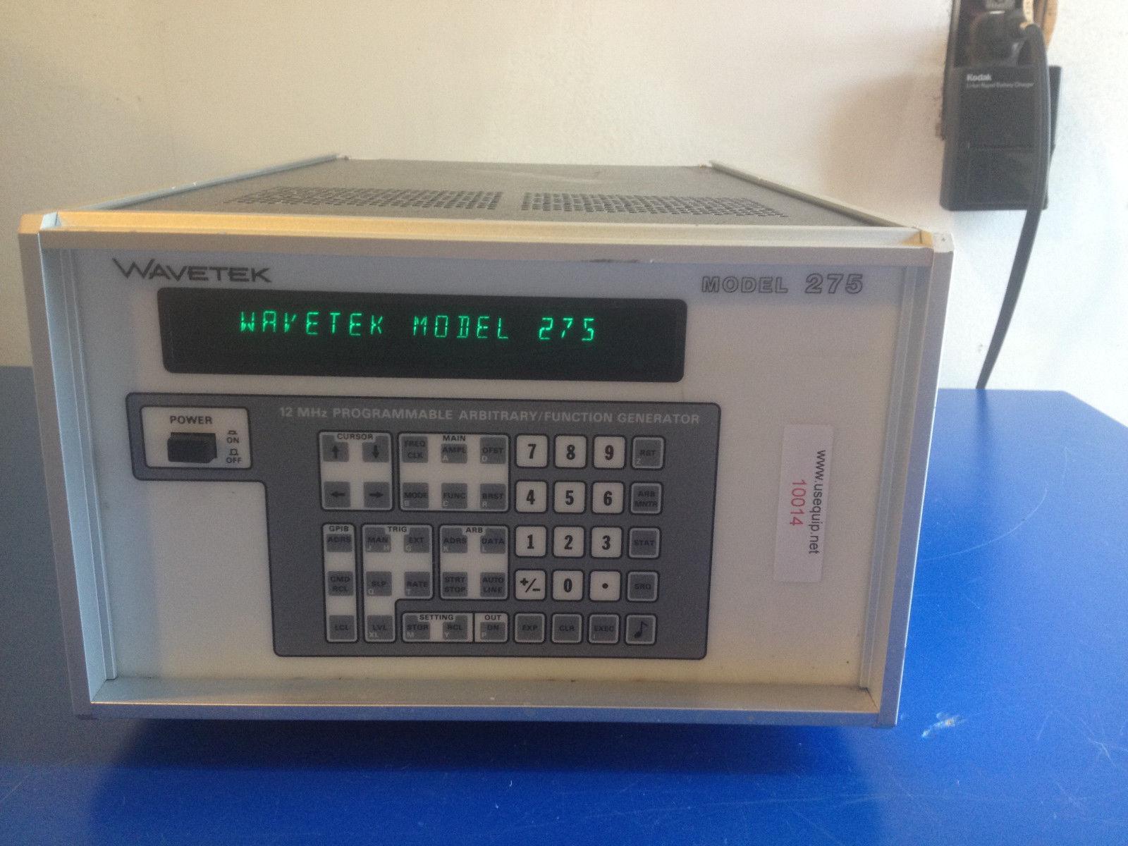 10014 WAVETEK 275 12MHZ PROGRAMMABLE ARIBITRARY / FUNCTION GENERATOR OPT. 2