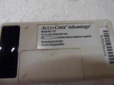 AccuData GTS Plus Blood Analyzer W / Accu-Chek Model 777 Glucose Meter & Manual