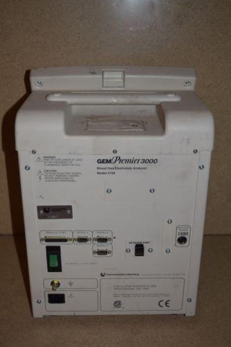 INSTRUMENTATION LABORATORY GEM PREMIER 3000 BLOOD GAS/ELECTROLYTE ANALYZER