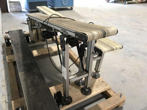 "Dorner 717055 Incline Food Grade 10"" Powered Belt Conveyor 8ftX10.25""X2""-Part..."