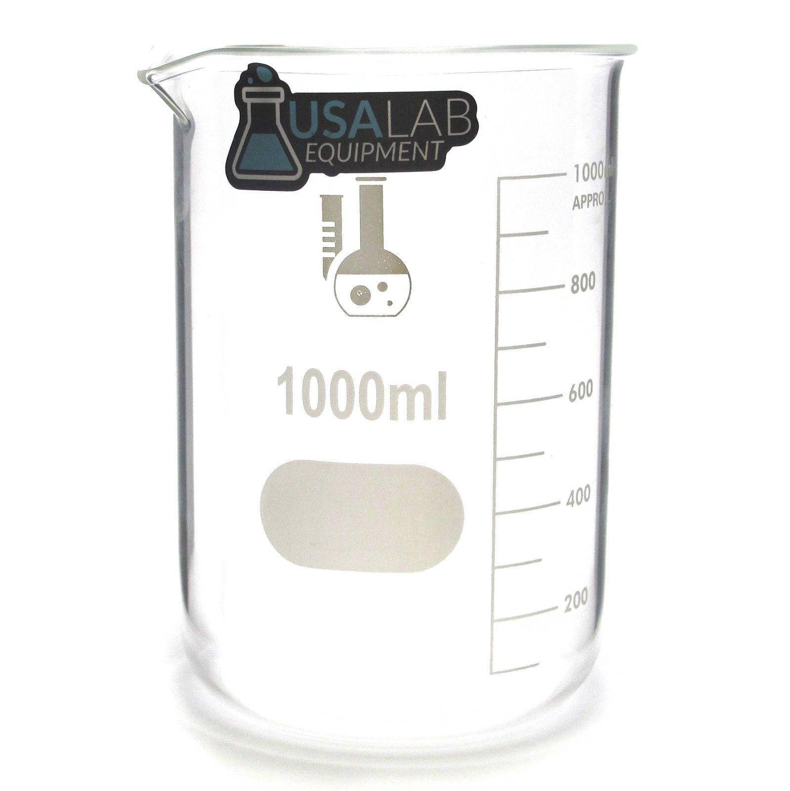 1000mL / 1L Low Form Griffin Beaker 3.3 Borosilicate
