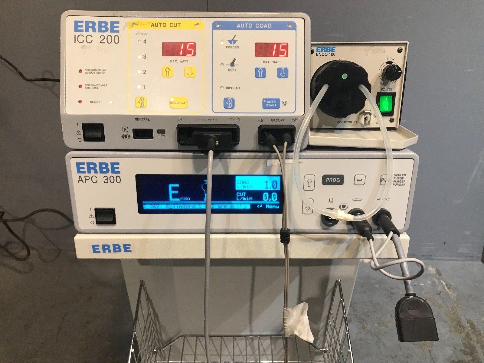 ERBE ICC 200 Electrosurgical Generator & APC 300 w/ENDO 100, Medical, Surgical