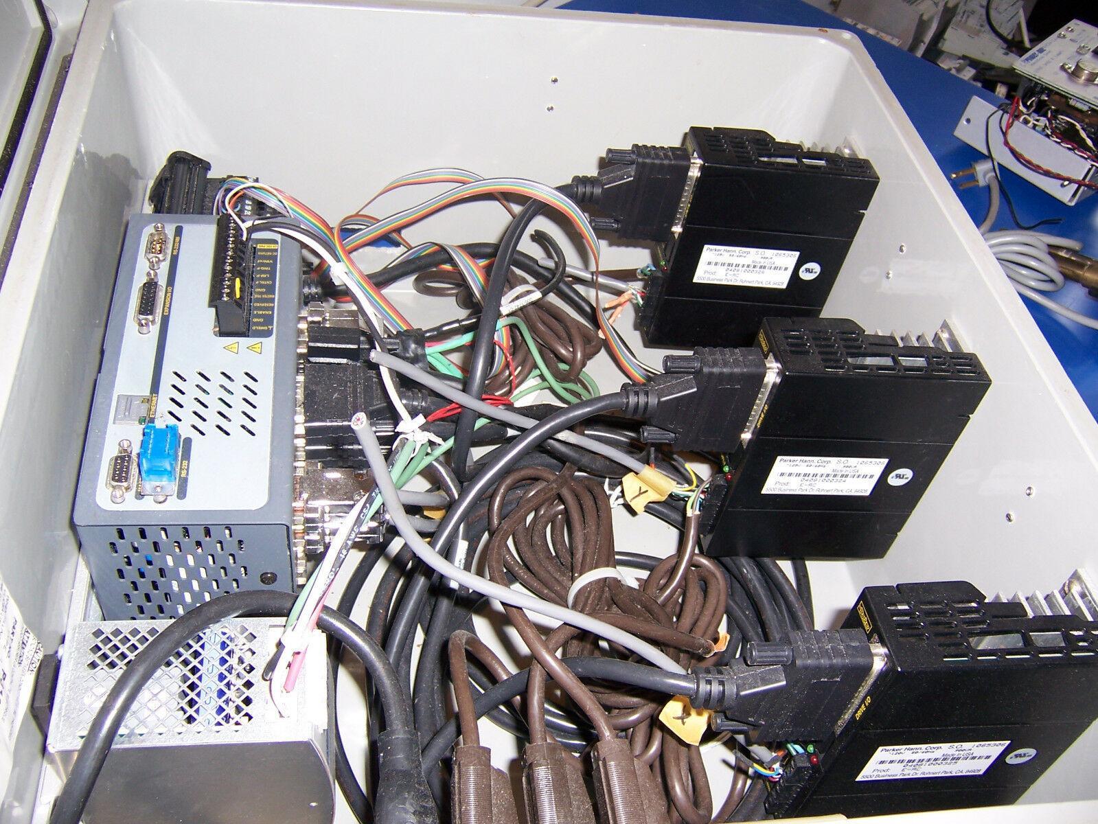 10302 PARKER 6K4 SERVO / STEPPER 4-AXIS CONTROLLER W/ E SERIES DRIVER BOARDS