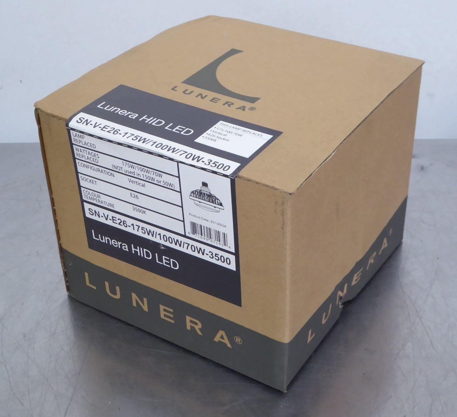 TB Lunera Susan HID LED SN-V-E26-175W/100W/70W-3500 Lamp, E26 Socket, 3500K