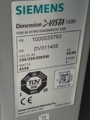 Siemens Medical Dimension Vista 1500 Intelligent Lab System