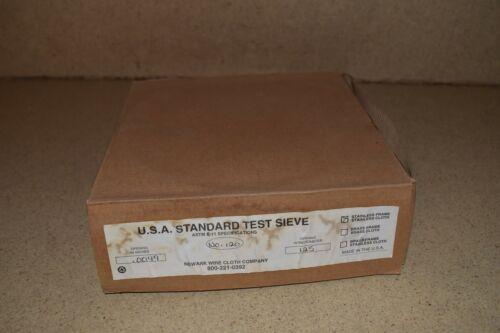 "NEWARK  USA STANDARD TEST SIEVE NO 120 8"" #120 125mm .0049"" NEW"