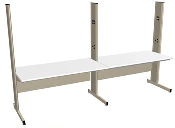 Grant Series LisStat Lab Benches with ESD Laminate Top