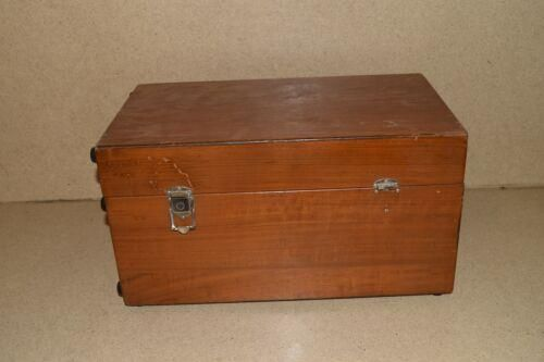 ++ SHALLCROSS MANUFACTURING NO 759 DC KILOVOLTMETER WITH WOOD BOX