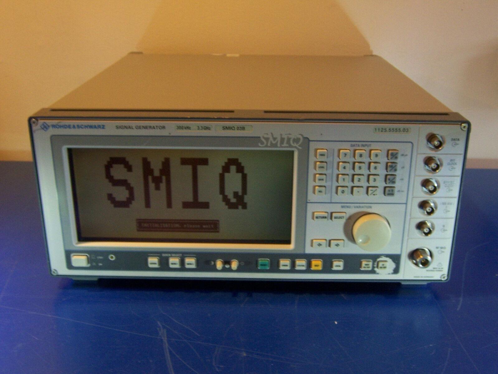 10533 ROHDE & SCHWARZ R&S SMIQ 03B SIGNAL GENERATOR 300KHZ - 3.3GHZ