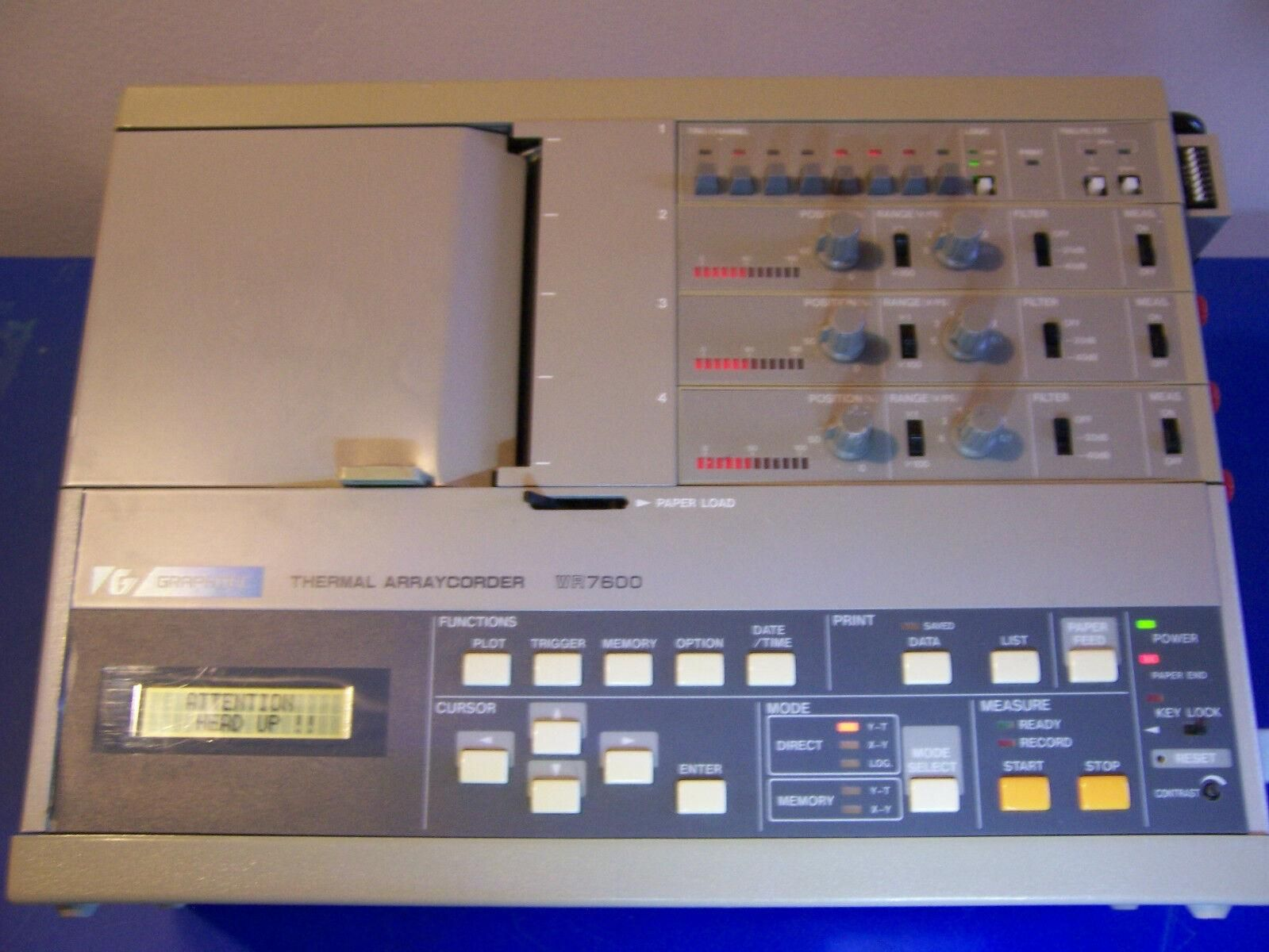 10534 GRAPHTEC WR7600 THERMAL ARRAYCORDER Digital Data Logger Chart Recorder