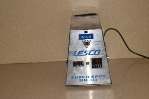 @@ LESCO SUPER SPOT MK III HIGH INTENSITY ULTRAVIOLET LIGHT CURING SYSTEM