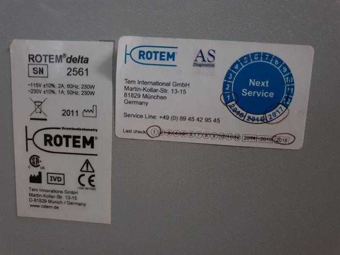 Rotem Delta Viscoelastic testing