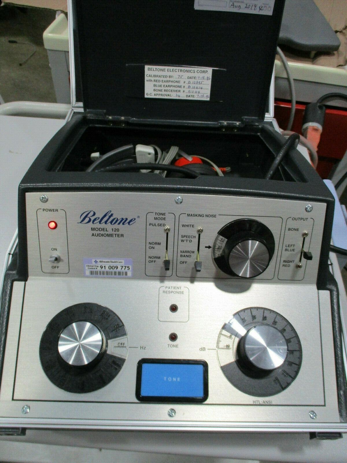 Beltone Electronics 120 Audiometer W/ Headphones Set
