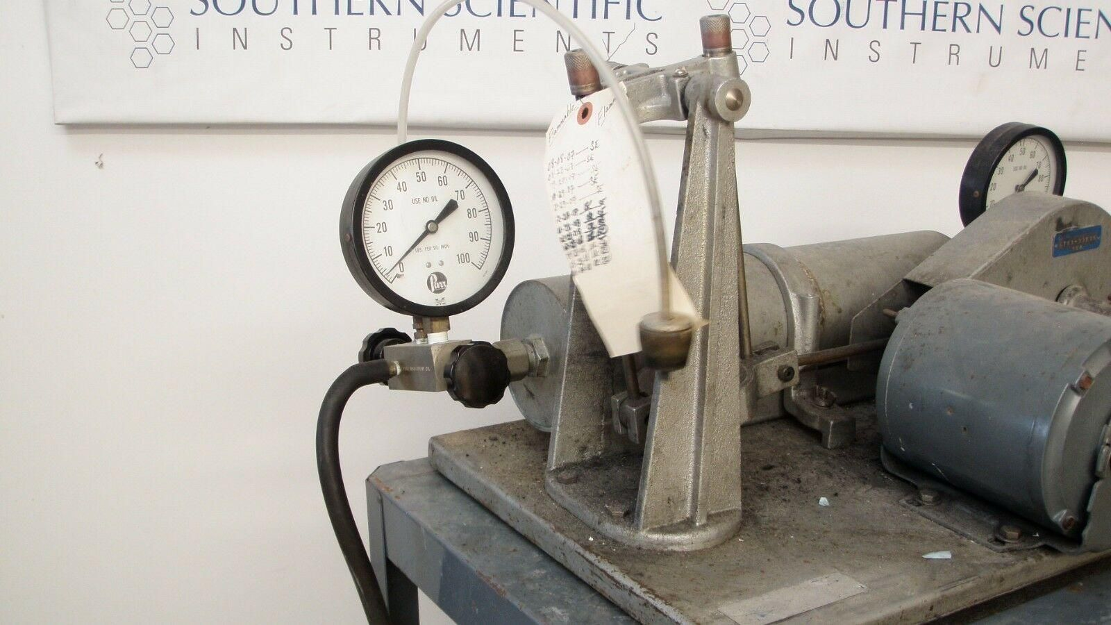 Parr Shaker Reactor Hydrogenation Apparatus 3911